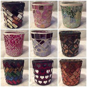 6cm Mosaic Votive / Sampler / Tea Light Holders - Various Designs Available