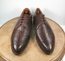 J and L shoes  Aligator Grain Norvegian split toe Spade sole US 8.5 D / EU 41.5