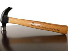 Engraved 16oz Hammer Father Brother Uncle Grandfather Wedding Gift PERSONALIZED