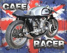 CAFE RACER BIKER MOTORCYCLE ROUTE 66 AMERICA METAL PLAQUE TIN SIGN N451