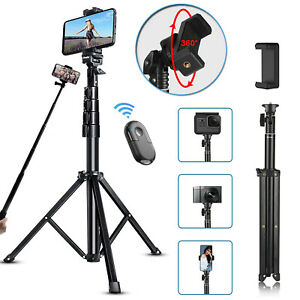 """Extendable 67"""" Remote Selfie Stick Tripod Desktop Stand Holder For Cell Phone US"""