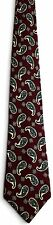 Men's New Silk Neck Tie, Dark red with multi color paisley by Kuppenheimer