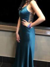 Prom Dress Satin Long Size 6 Sea-Green Colour