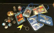Wow: Vintage Star Trek Collectibles Lot, Rare, Lanyards, Marbles, Snow Globe