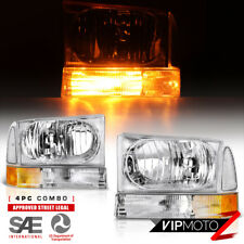"99-04 FORD F250 F350 F450 SuperDuty Excursion ""FACTORY STYLE"" Headlights Corner"