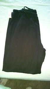 NWT Bobbie Brooks Super Soft Comfy Lounge Pants Black Criss Cross Leg 2XL