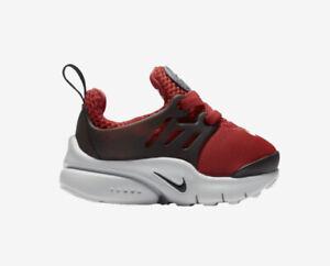 Nike Presto University Red Black Toddler Boys Sz 4c 4 Slip On Baby Shoes NEW Box