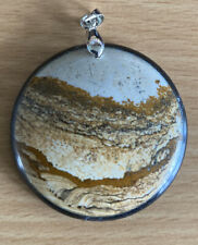 Picture Jasper Pendant Scenic Canyon View 18KGP Finding