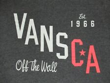 VANS - CALIFORNIA - OFF THE WALL - XL - CHARCOAL GRAY T-SHIRT- A1819