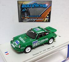 Porsche 911 #221 Jabouille - Levent Foltene Paris-Dakar 1988 1/43 Spark Sf035
