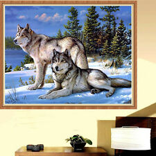DIY Diamond Two Wolves Resin Embroidery Painting Cross Stitch Craft Home Decor