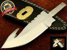 "6"" Handmade Gut Hook Fixed Blank Blade for Knife Makers with Brass Guard (2174"