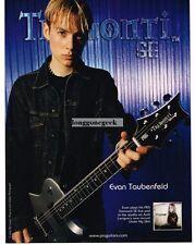 2004 PRS Tremonti SE Electrric Guitar EVAN TAUBENFELD Vtg Print Ad