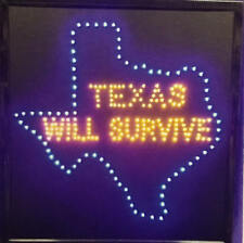 Bright New Design Texas will Survive For Business Music Led Neon Sign Display