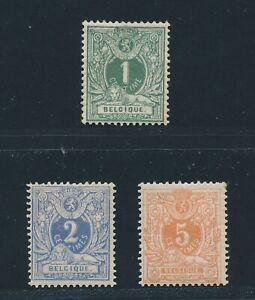 """BELGIUM 1880, Mi. 23-25 C */MH, """"numerals"""" perforation 14 complet!!"""