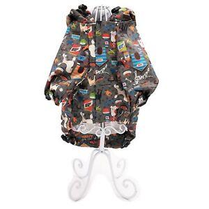 WATERPROOF Dog RainCoat Hooded Rain Coat Jacket Rainwear For SMAL Male Pet Cat