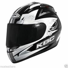 CHEAP SALE KBC FORCE RR BLADE BLACK SILVER MOTORCYCLE MOTORBIKE HELMET SIZE M