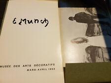 Edvard Munch 1863-1944, Musee des Arts Decoratifs, 1969. Les Presses Artistiques