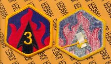 US ARMY 3rd Chemical Brigade SSI shoulder patch m/e