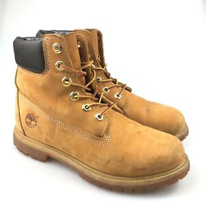 Timberland Womens 6 inch Premium 10361 Wheat Waterproof Leather Boot Size 8