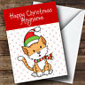 Spotty Ginger Cat Children's Personalised Christmas Card