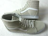 Vans Sk8-Hi Silver Lining Beige True White Canvas Suede Skate shoes Size 13 NWT