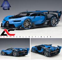 AUTOART 70986 1:18 BUGATTI VISION GRAN TURISMO #16 LIGHT BLUE CARBON SUPERCAR
