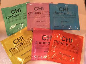CHI CHROMASHINE INSTANT DEMI PERMANENT BRIGHT PASTEL HAIR COLOR PACKS