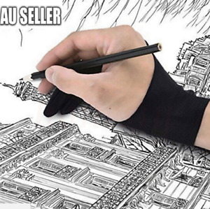 Professional S/M/L Size Graphic Tablet Artist Sketch Drawing Two Finger Glove