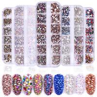 1440pcs Flat Back Nail Art 3D Rhinestones Glitters Diamonds Tips Stud Manicure