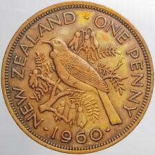 1960 NEW ZEALAND 1 ONE PENNY COLOR SUBTLE TONED HIGH GRADE CHOICE (DR)