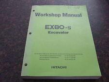 HITACHI EX80-5 EXCAVATOR WORKSHOP SERVICE SHOP REPAIR MANUAL