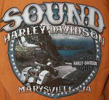 HARLEY DAVIDSON Marysville Washington Mens Large Shirt American Independance