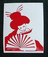 HOT SALE adesivo GEISHA sticker decal vynil vinile ritagliato woman japan donna