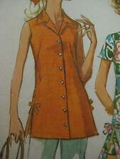Vintage Mini Dress Side Split Seam w/ Bows Sewing Pattern Women Simplicity 8801