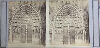 Cattedrale Notre-Dame Da Strasburgo Francia Foto PL52n3 Stereo Albumina c1860
