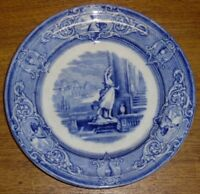 Antique J. Clementson Ironstone Blue Transfer Plate - Sydenham - 9 3/8""