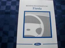 Orginal deutsche Ford Fiesta Bedienungsanleitung / Betriebsanleitung