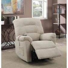 Coaster 600399 Power Lift Recliner In Taupe Chenille Upholstery