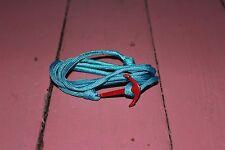 Brand New Fashion Neutical Style Alloy Bangle Weave Wax Rope Anchor Bracelet