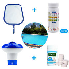 100 Tablets Pool Cleaning Tablet Hot Tub Chlorine Chemical Dispenser Test Strips