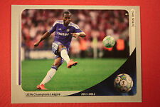 PANINI CHAMPIONS LEAGUE 2012/13 N. 5 DROGBA'S GOAL CHELSEA BLACK BACK MINT!