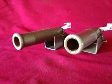 RARE FRENCH pair mole trap shot gun canon mid century décor 50s 2 pièges à taupe