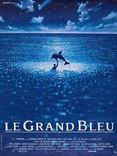Affiche Pliée 40x60cm LE GRAND BLEU (1988)  Luc Besson - Jean-Marc Barr NEUVE