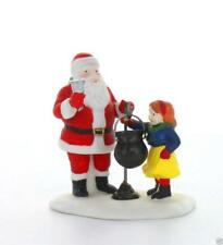Tis The Season #55395 Santa & Girl With Kettle Retired Christmas In City Dept 56