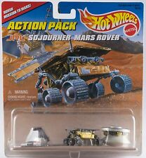 Hot Wheels Action Pack JPL Sojourner Mars Rover, Lander & Pathfinder New On Card