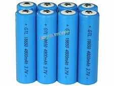 8x 18650 3.7V GTL Li-ion 4300mAh Blue Rechargeable Battery for LED Flashlight