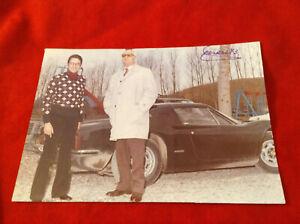 extremely rare Enzo Ferrari Drake signed 1973 photo - Ferrari Dino 246 fantastic