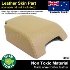 Leather Armrest Console Lid Cover Fits Land Rover Discovery LR3 LR4 06-16 Beige