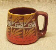 Ute Mountain Native American Pottery Small TeePee Coffee Mug Navajo Style Design